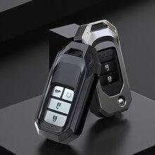سيارة الوجه حقيبة غطاء للمفاتيح مناسبة لهوندا سيفيك CR V HR V أكورد اليشم كريدر أوديسي 2015  2018 البعيد حامي