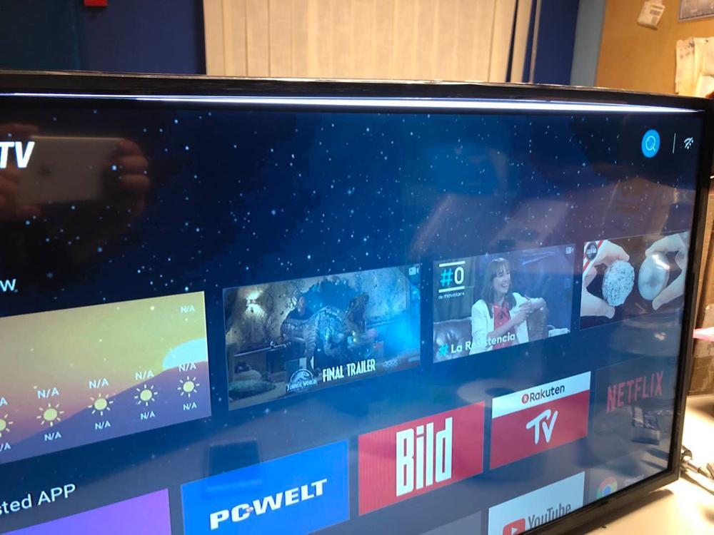 (Tela quebrada) monitor de exibição 1920*1080p 32 polegada android smart led televisão t2 versão global tv