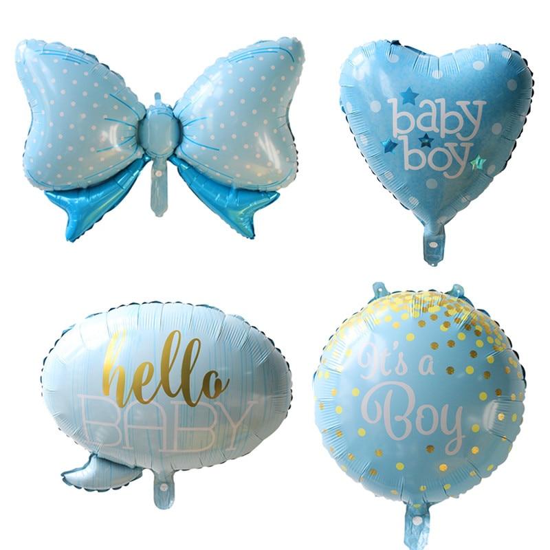 4 шт./лот baby shower это мальчик/девушка с воздушными шарами 1-й воздушный шар на день рождения Корона Лук globos вечерние украшения Дети baloon