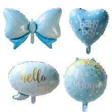 4 шт./лот baby shower это мальчик/девушка с воздушными шарами 1-й воздушный шар на день рождения Корона Лук globos вечерние украшения Дети baloon Мультфильм hat