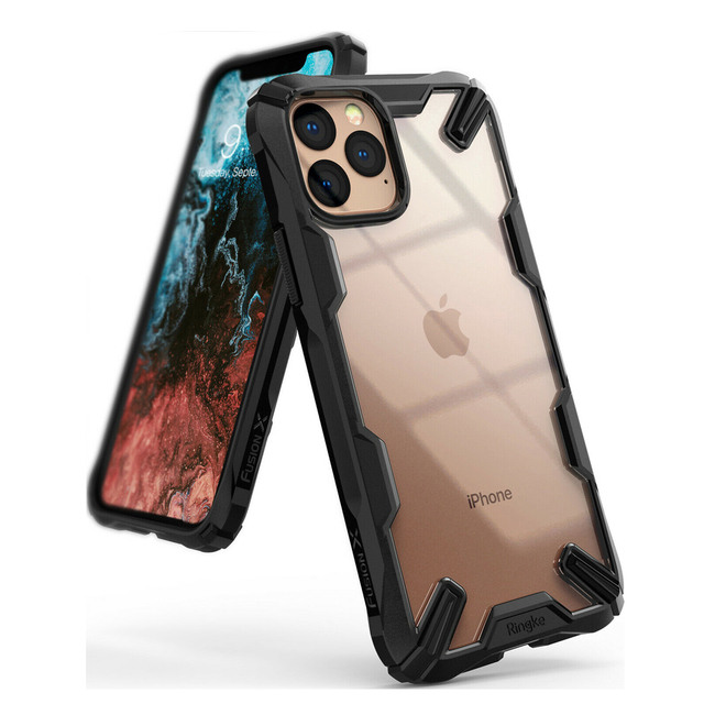 Чехол Ringke Fusion X для iPhone 11 Pro с усиленной амортизацией, прозрачный жесткий чехол из мягкого ТПУ с задней частью