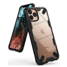 Ringke fusion x para iphone 11 pro max caso resistente absorção de choque transparente duro pc volta macio tpu quadro híbrido capa