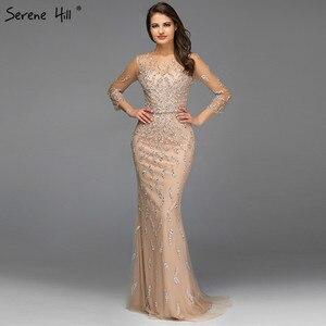 Image 4 - שלווה היל דובאי יוקרה בת ים נוצץ פורמלי שמלת ערב 2020 ואגלי פאייטים ארוך שרוולים פורמליות המפלגה שמלת CLA60892