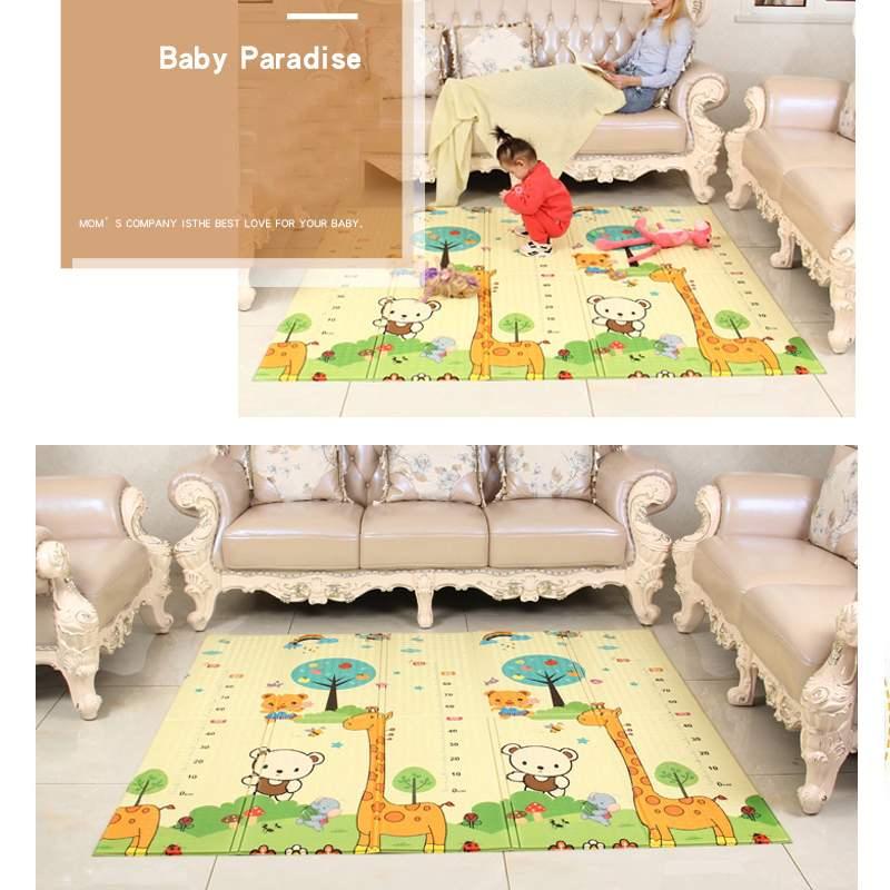 Foldable Kid Play Crawling Mat Toys Non-Slip Portable Safety Playroom Kid Rug Playmat Large Double Sides Mat Room Pad Carpet