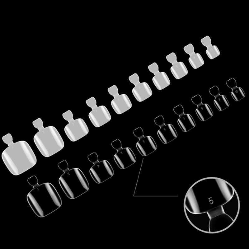 500 шт Смешанные полностью покрывающие накладные ногти для пальцев ног чистые натуральные Поддельные Типсы для ногтей ног Кончики ног маникюр Дизайн ногтей украшения