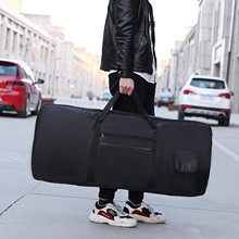 61 Keys Electronic Piano Bag Waterproof drop Lined  Double Shoulder Strap Padded Han  With Cotton Thickening Black Travel Bag