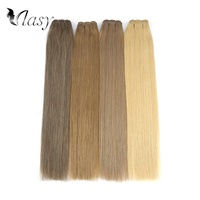 Vlasy 20'' 24'' Double Drawn Straight Remy Human Hair Weft Straight Human Hair Weave Bundles Extension 100g/pc Free Shipping