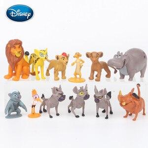 Disney 12pcs Lion King Simba King Knife Ding Man Man / Peng Peng Animal Toy Doll Cake Decoration Children Creative Gift Set