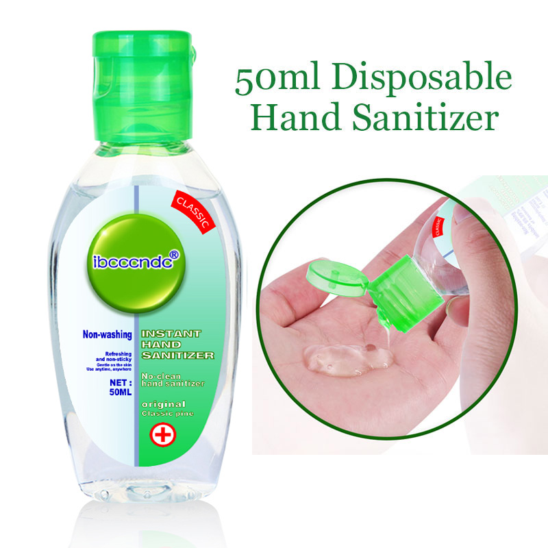 50ml Travel Portable Hand Sanitizer Gel Moisturizing Disinfection Anti-Bacteria Disposable No Clean Waterless Clear Hand Gel