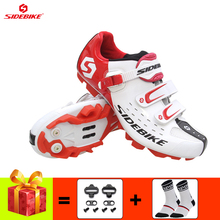 SIDEBIKE Cycling shoes men sapatilha ciclismo mtb mountain bike sneakers self-locking breathable ultra-light riding bicycle shoe sidebike men women bicycle cycling shoes outdoor mtb racing athletic shoe breathable mountain bike self locking shoes red