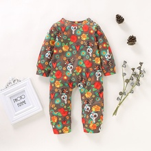 Children\s Jumpsuit Outfits Baby Girl Boy Cute Casual Halloween Floral Print Romper Infant Long Sleeve Rompers