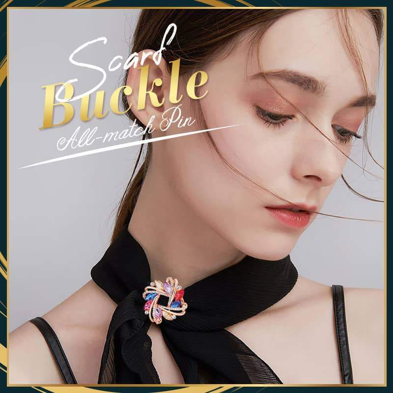 New Multi-purpose Cross Three-ring Scarf Buckle Clip X Shape Metal Brooches Bow Scarves Buckle Holder Shawls Jewelry Accessories