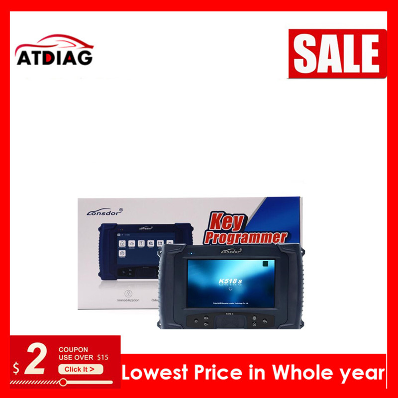 Original LONSDOR K518S Key Programmer Basic Version with  Update-in Auto Key Programmers from Automobiles & Motorcycles on