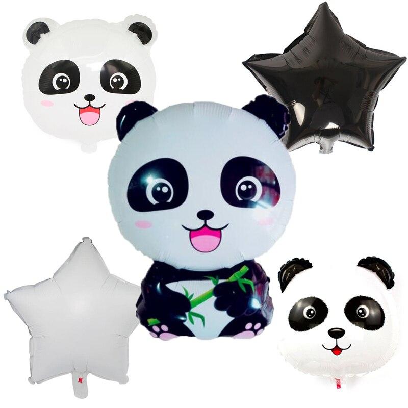 1pcs/lot 60*40cm Cute Panda Aluminum Foil Balloon 18inch panda head balloon baby shower Birthday Party Decor kids toys gift