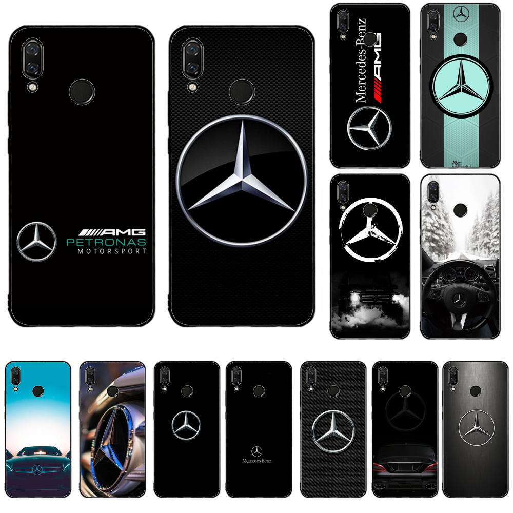 German luxury car Mercedes Cover Black Soft Shell Phone Case For redmi 8 K20 note 4 5 A 8 7 6 pro