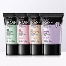 4 цвета макияж праймер увлажняющий чехол блеск осветляет цвет кожи лица изоляционный Крем Водонепроницаемый стойкий Makeupuff1a