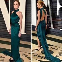 Сексуальное длинное платье с темно зеленые платья знаменитостей