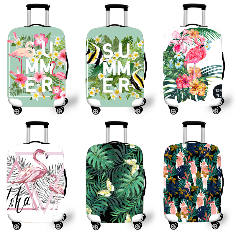 Elastic Luggage Protective Cover Case For Suitcase Protective Cover Trolley Cases Covers 3DTravel Accessories Flamingo Pattern 1