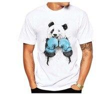 For Male Harajuku Men Students Soft Tees 2019 Chinese Style Kong Fu Panda Novelty T shirts