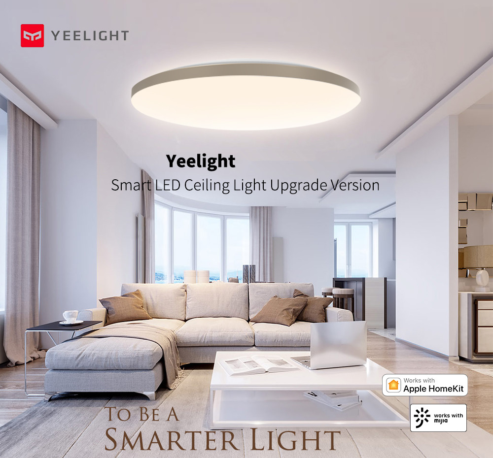 YEELIGHT 50W Smart LED Ceiling Lights Colorful Ambient Light Homekit smart APP Control AC 220V For Living Room