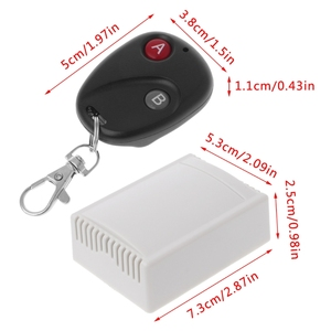 Image 4 - DC12V 2CH RF Wireless Remote Control Switch 2 Button Transmitter + Receiver 433MHz
