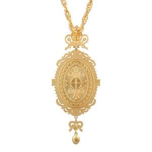 Image 5 - אורתודוקסי אליפטי חזה כתר צלב עיצוב משובץ סמל דתי ביזנטי צלב שרשרת בישוף הכהן האפיסקופלית
