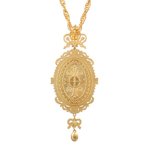 Image 5 - Orthodox Elliptic Pectoral Crown Cross Jewelry Religious Icon Byzantine Crucifix Necklace Virgin Mary Bishop Priest Episcopal