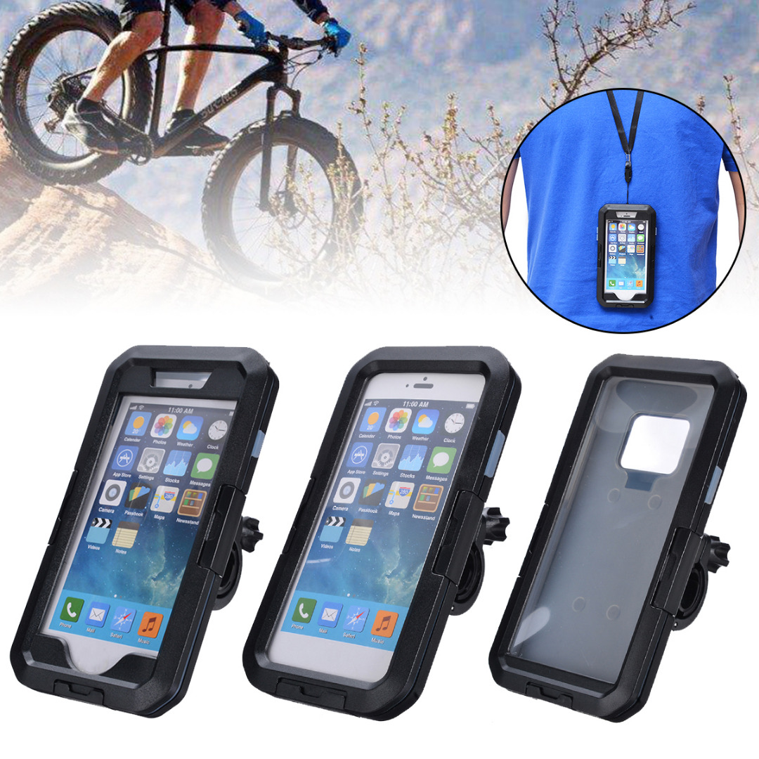 360 Degree Waterproof Cell Phone Bike Motorcycle Handlebar Mount Holder Case Bag For Iphone XS Max XR X 8 For Samsung Galaxy S9