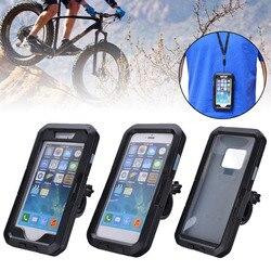 360 stopni wodoodporny telefon komórkowy uchwyt do mocowania kierownicy motocykla przypadku torba dla iphone XS Max XR X 8 dla Samsung Galaxy S9 w Uchwyty i podstawki do telefonów komórkowych od Telefony komórkowe i telekomunikacja na