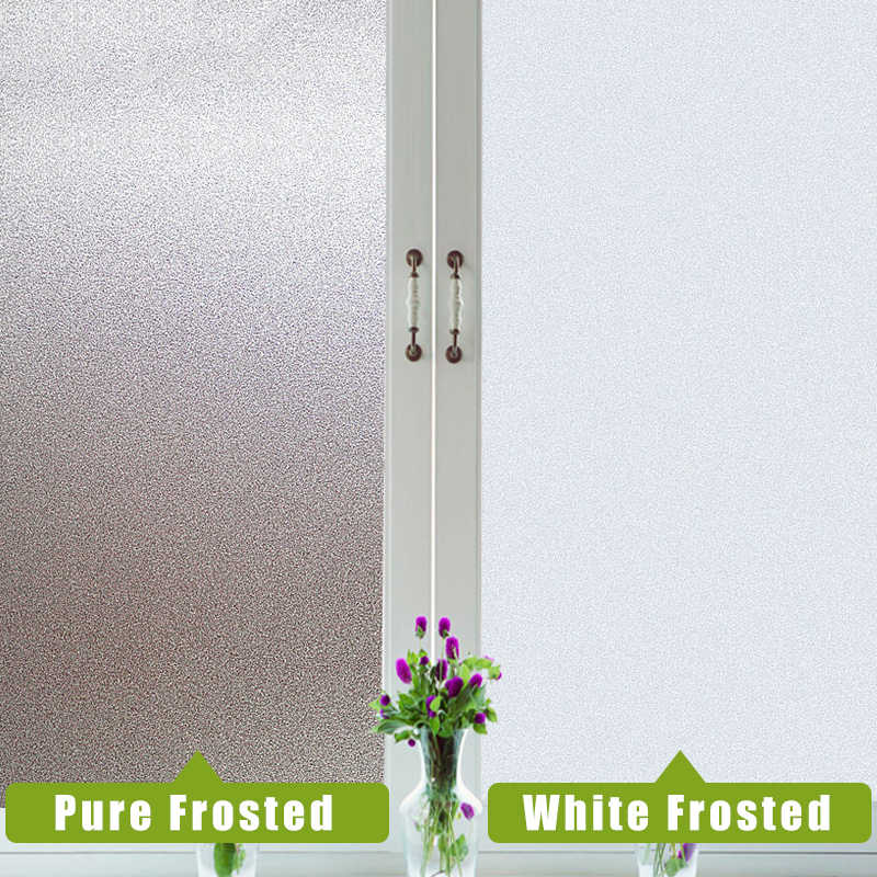 200cm Frosted Window Film ความเป็นส่วนตัวไม่มีกาว Static Cling ความร้อนไวนิลสติกเกอร์สำหรับห้องน้ำแก้วฟิล์มตกแต่งใหม่