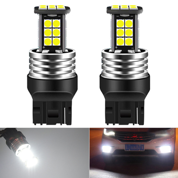2x T20 7440 DRL p21w LED Canbus DRL Running lights Reverse Light for BMW E46 E36 E39 E60 E90 E91 E92 G30 E87 E83 E53 X3 X5 F10 image