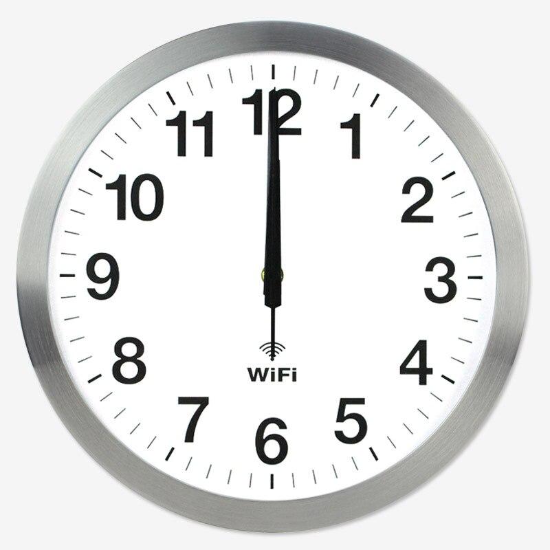 Stylish Smart WIFI Automatic Time Synchronization Network Clock Mute Wall Clock Modern Minimalist Living Room Quartz Home Clock|Wall Clocks| |  - title=