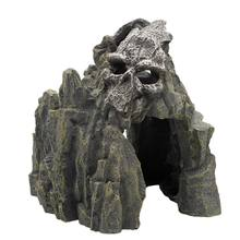 Aquatic Aquarium Landscaping Rockery Decor Skull Mountain Fish Tank Ornament(China)