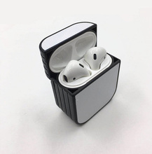 For Airpods / airpods Pro Sublimation heat press PC case + blank can printable aluminium plate + double side Tape  10 pieces/lot