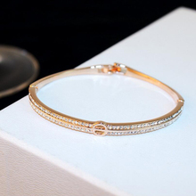 купить Bracelets Bangles Rose Gold Love Bangles Fashion Jewelry For Women Crystal  Cuff Letter O Bracelet Pulseiras Pulseiras дешево