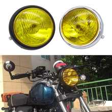 New Headlight Motorcycle Accessories Refitting Retro Lamp Black Shell Front  For CG125 Modification