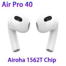 Ar pro 40 / 4 tws fones de ouvido sem fio bluetooth 5.2 sensor luz com caso carregamento 12d super bass pk air3 air4 i99999