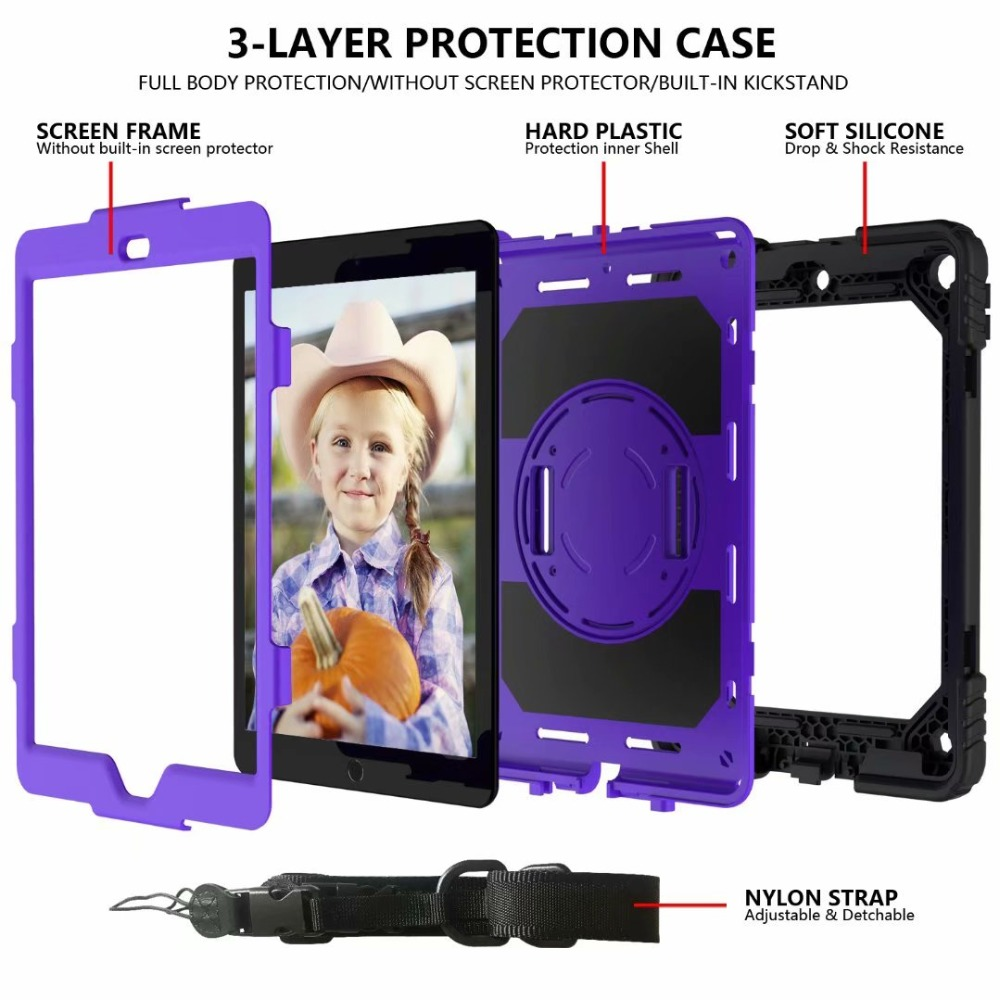 Hand 360 Cover For Case iPad iPad 7th Stand Strap Rotating Pencil Holder Generation For