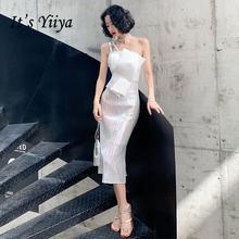 От платья it's yiiya br367 Элегантные на одно плечо бретельках