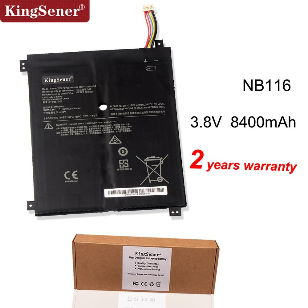Kingsener NB116 Laptop Battery For Lenovo IdeaPAd 100S 100S-11IBY 100S-80R2 NB116 5B10K37675 0813001 3.8V 31.92WH 8400mAh