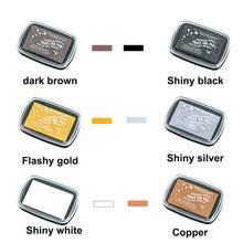 6 шт/лот многоцветная винтажная inkpad большого размера с металлическим