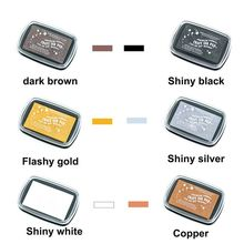 6pcs/lot Multi-color Big Size Metallic Vintage Inkpad For DIY Scrapbooking Decoration Rubber Stamp Clear Stamp Accessories недорого