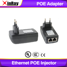 Xinray高品質poe cctv poe ipカメラパワーオーバーイーサネットインジェクタためのdc出力poeイーサネットアダプタPOEB48E