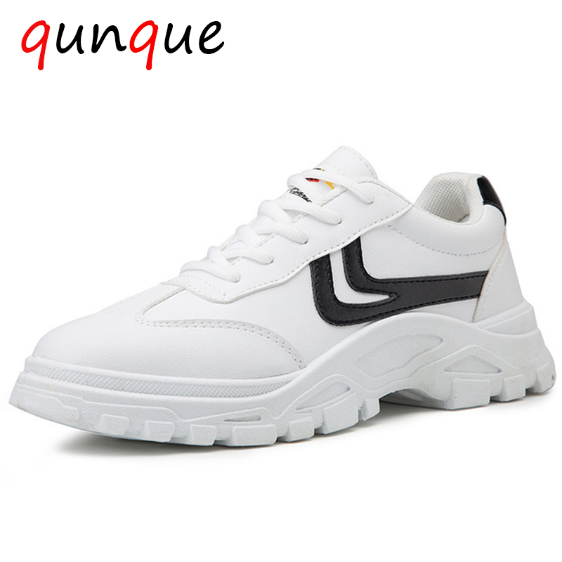 NEW Brand High Quality Black Men's Leather Casual Shoes Fashion Breathable Sneakers Fashion Flats Big Plus Size 44 A177