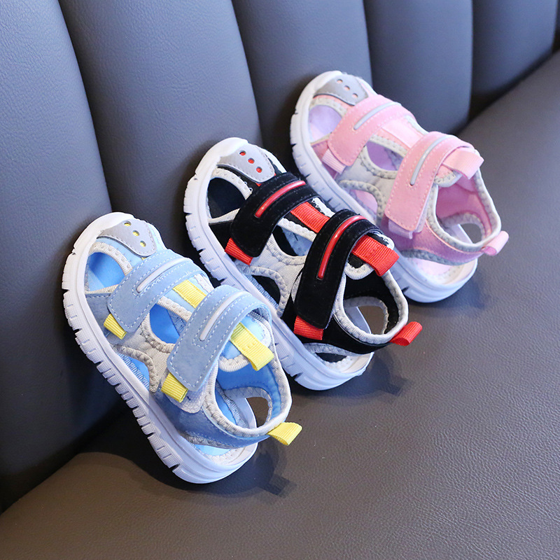 Children Summer Sandals Shoes Baby Boys Girls Soft Bottom Beach Function Cloth Sandals Toddler Kids Sports Non-slip Hooks Shoes