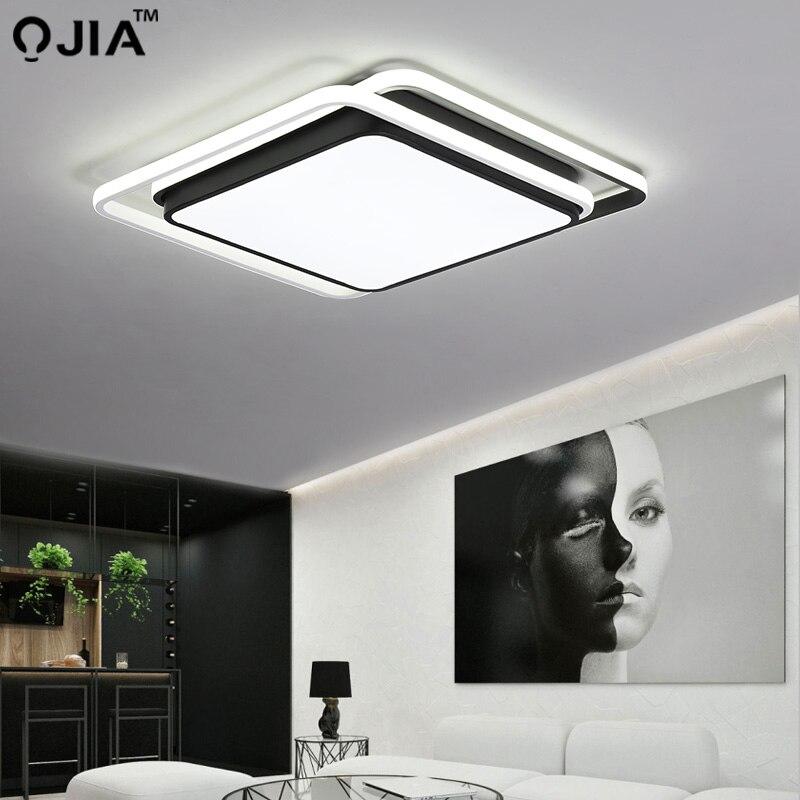Lampu Led Plafon Hitam Putih Frame Untuk Ruang Tamu Remote Control