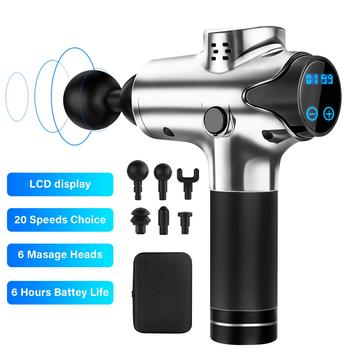 Muscle Massager Gun 20 Speeds Adjustable Cordless Deep Tissue Percussion Massager For Pain Relief Electric Body Sports Drill