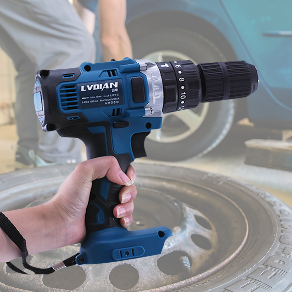 3 In 1 18V Electric Cordless Impact Drill 13mm 2-Speed Rechargable Electric Screwdriver Drill Li-Ion Battery For Makita Battery