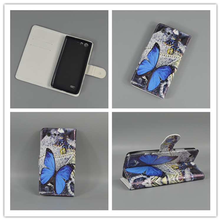 New Butterfly Flower Flag Designer Wallet Flip Stand Book Cover Case For ZTE Blade A511 A515 A 511 A 515 image