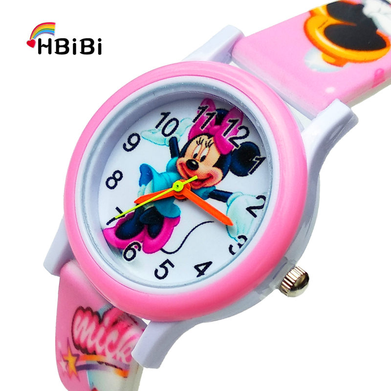 Latest Release 3D Mickey Watch Toys Children Watch For Kid Girl Waterproof Digital Kids Watches Boy Christmas Gift Child Clock